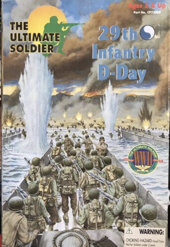 New In Box The Ultimate Soldier 1//6 29th Infantry D-Day Military Vintage Figure
