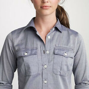 d4f63e6ab J Crew Chambray The Perfect Shirt Button Down Long Sleeve Cotton ...