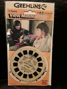 Vintage Gremlins viewmaster reels 3 pk 1984 3d unopened sealed set