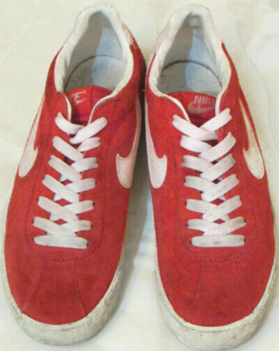 NIKE BRUIN SUEDE LEATHER Men's Sneakers shoes Red White Size US 6.5