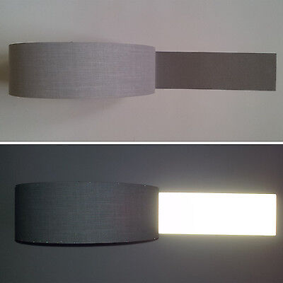 "Safety Silver Reflective TC Fabric sew on tape  (2"" x10ft/20ft/30ft)"