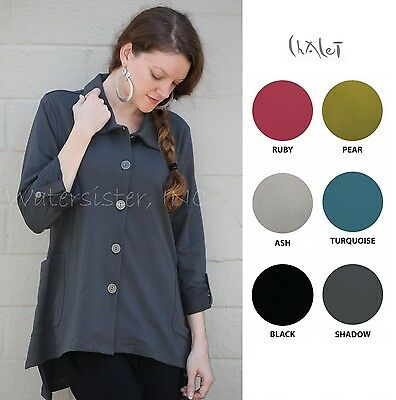 CHALET USA French Terry REESE JACKET Hi-Lo Swing Pocket  (1X 2X 3X) 2015 COLORS