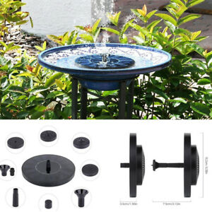 Floating Solar Powered Water Fountain Garden Pump Pond for Bird Bath Tank