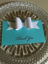 Breakfast At Tiffany Inspired Wedding, Bridal Shower, Event Thank You Note Cards