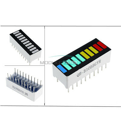 2//10//50PCS 10 Segment Digital Red LED Bar Graph Display Ultra Bright NEW
