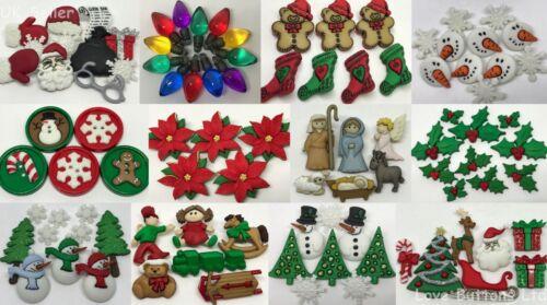 DRESS IT UP BUTTONS CHRISTMAS DESIGNS SNOWMEN SANTA NATIVITY HOLLY TREE TOYS