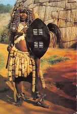 BG21249  tribal life  zulu witch doctor types folklore south africa