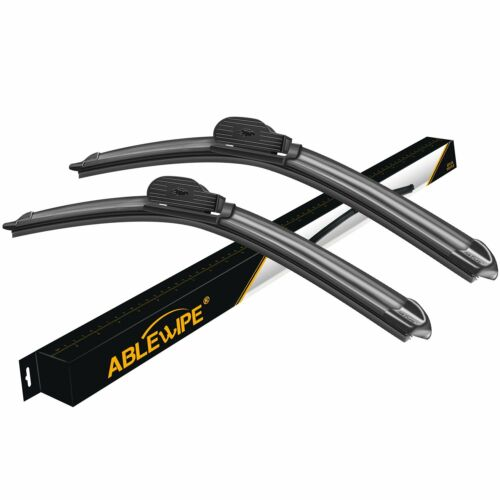 "ABLEWIPE 24/""+22/"" Fit For BMW 530i 2007-2004 Beam Front Windshield Wiper Blades"