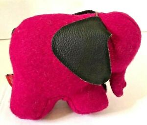 Monica-Richards-of-London-Paperweight-Purple-Felt-and-Brown-Leather-MCM-Design