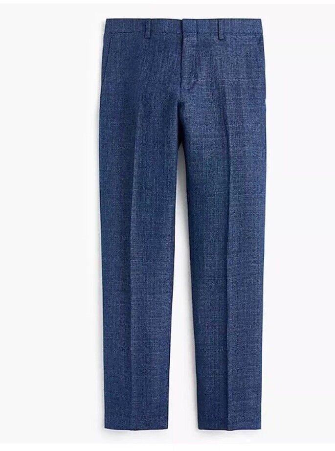 New J Crew Ludlow Slim-fit Suit Pant in bluee Italian Linen Sz W33 L34 H4683