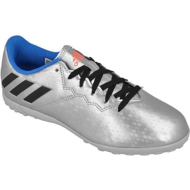 dd86fe3d6d97 adidas Messi 16.4 TF Astro Turf Kids Football Soccer Trainer Silver ...