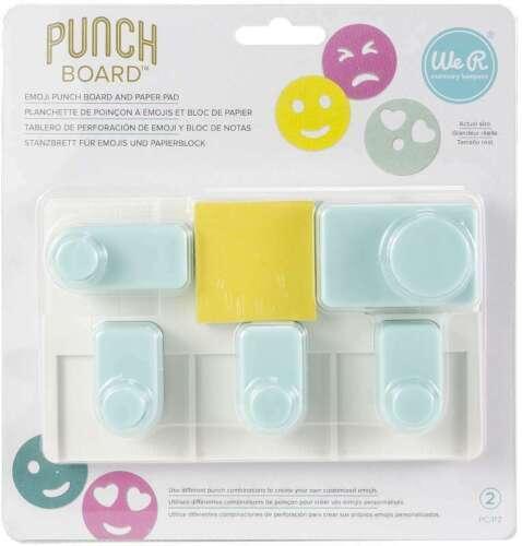 We R Memory Keepers Emoji Punch Board 661810 NEW