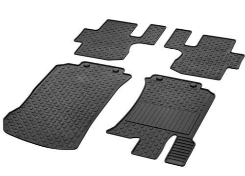 Mercedes Benz Original Rubber Floor Mats R Class W251 LHD Quadr Nip Black New