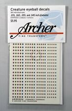 Archer Creature Eyeball Decals w/Slit Pupils #1 (4 Small) (180 Figures) AR99004