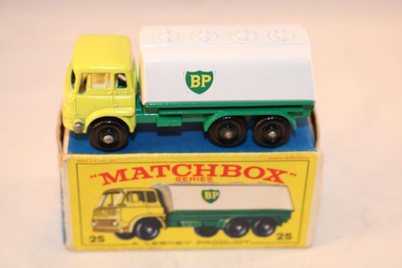 Matchbox Lesney 25 Bedford BP Tanker 99.9% mint mint mint in box all original Superb a415c6