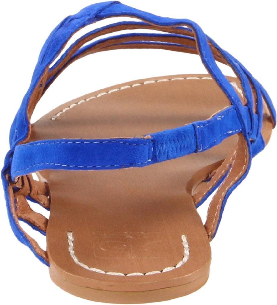 Joe's Joe's Joe's Jeans Tia bluee Sandals Flat Strappy Suede Strapped slip-on NEW Designer 70fd1c