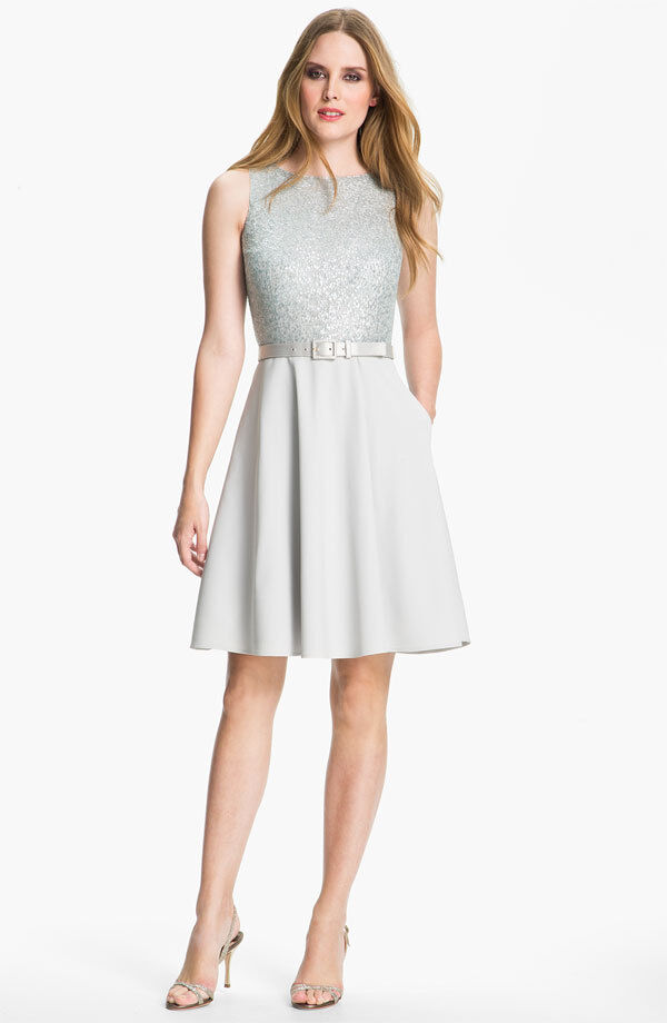 St. John Collection  Sequin & Stretch Cady Dress   ( Size 12)