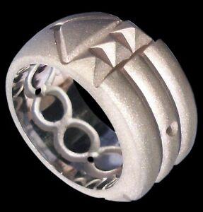 Sterling-Silver-Atlantis-Ring-Matte-Finish-Anillo-Atlante-Sandblasting-All-Sizes