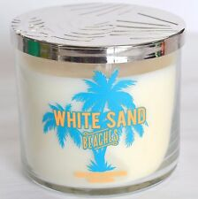 White Sand Beaches Bath & Body Works Scented Candle Large 3 Wick Glass Jar Tiare