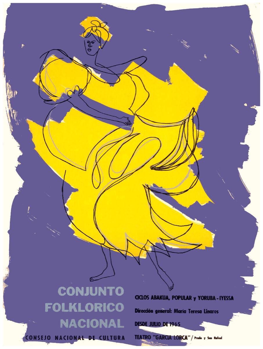16x20 Decoration CANVAS.Interior political art.Rumba.Cuba dance school.6377