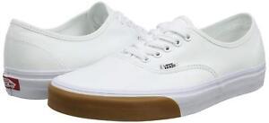Details about Vans Authentic True White ( Gum Bomber) Classic Canvas Shoes