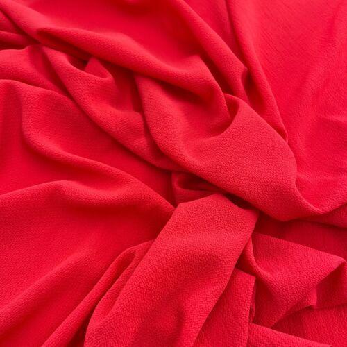 FS554 Burbuja Crepe Negro Rojo Blush Con Textura Vestido haciendo Jersey Tejido Elástico