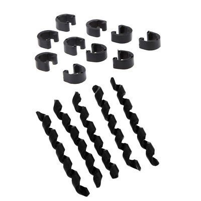 10pcs Road Bike Outer Brake Gear Cable Protector MTB Bicycle C Hose Clips