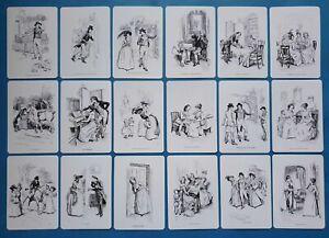 NEW-Set-of-18-Mini-Postcards-Illustrations-from-Sense-amp-Sensibility-Jane-Austen