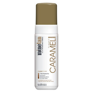 NEW MineTan Classic Caramel Foam 200ml 1H Express Fake Tan Olive Skin Tones