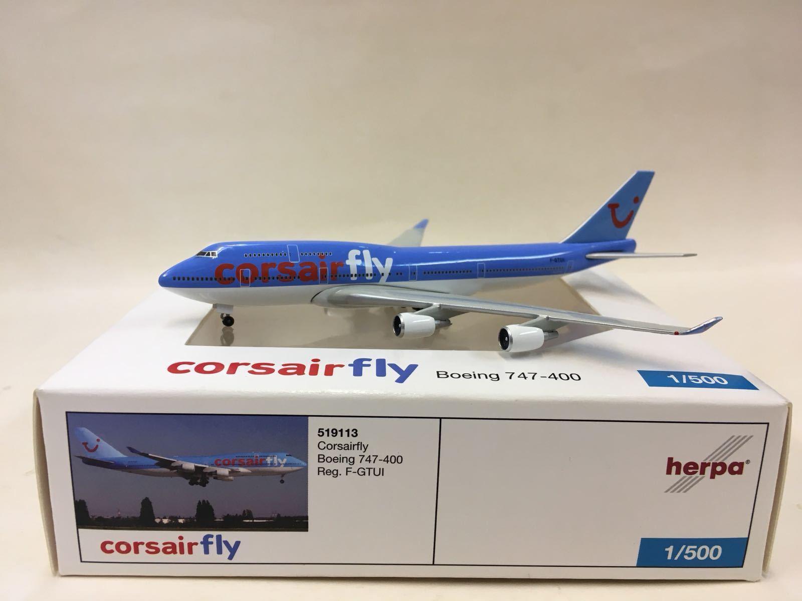 Herpa Wings Corsairfly Boeing 747-400 1 500 519113 F-gtui