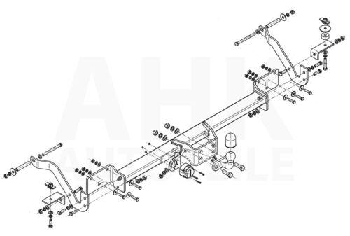 AHK Anhängerkupplung starr+ES 7p uni Citroen Jumper Pritsche 06-14 Kpl