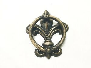 Details About New Cast Iron Gold Over Black Fleur De Lis Door Knocker 1184 0060