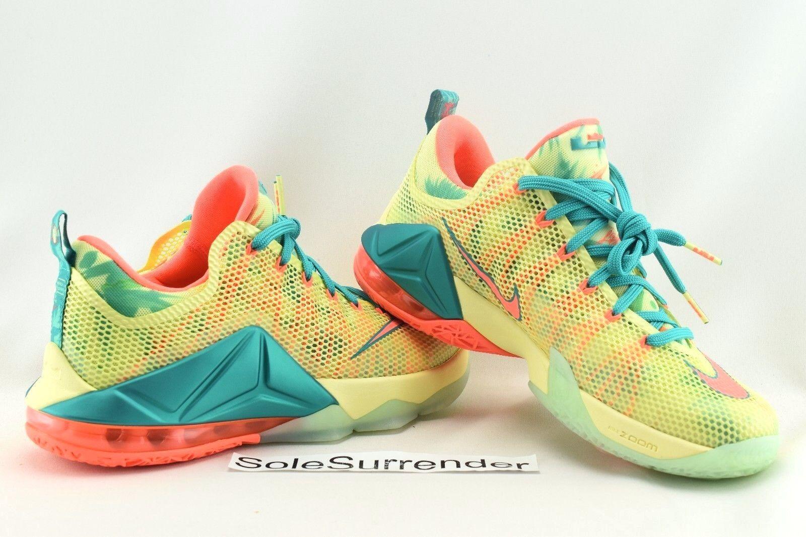 Nike Lebron XII Low PRM Lebronald Palmer - SIZE 11 -  776652-383 Lime 12 Mango