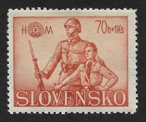 Slovakia-1942-Hlinka-Youth-Society-70-1K-Stamp-CX6