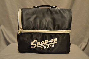 Brand New Black Snap-on Tools Vintage Logo Soft Sided Lunchbox