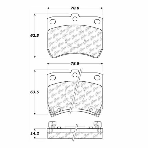 BRAND NEW CTEK FRONT BRAKE PADS 102.04020 D402 FITS 88-93 FORD FESTIVA