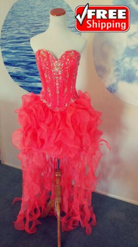Prom/party dress High-low strapless Organza color