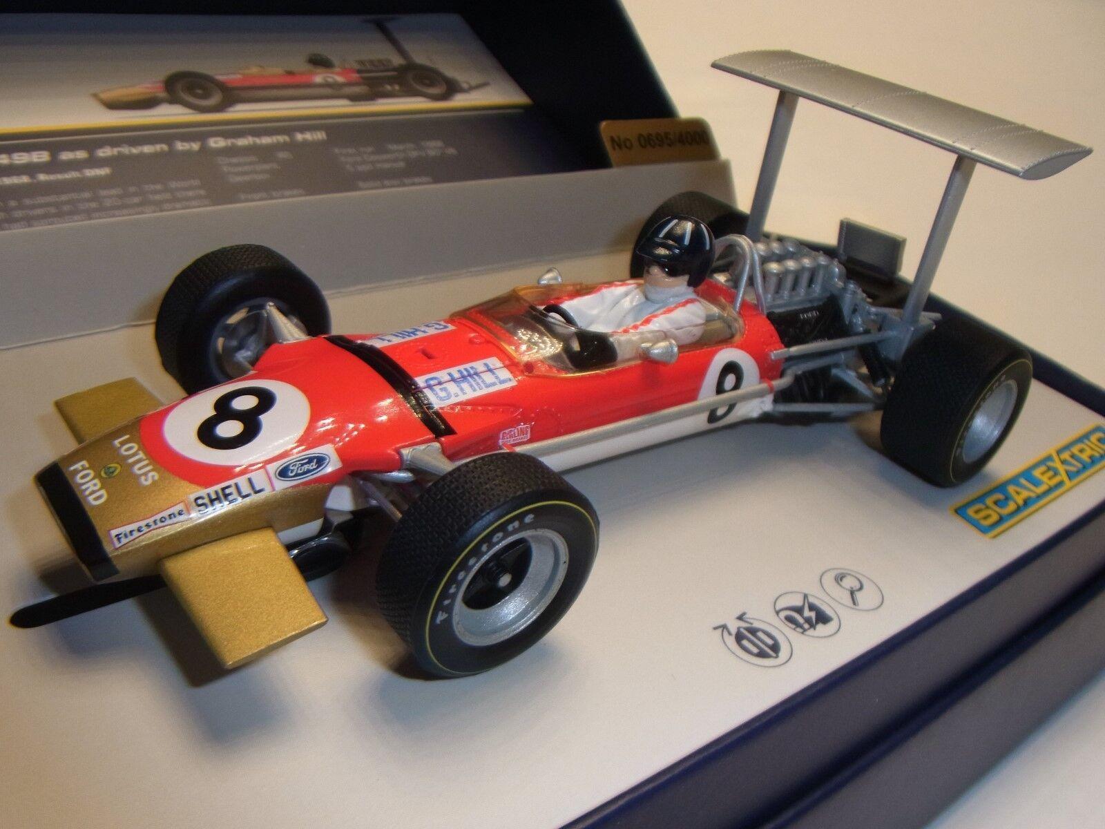 bellissima Scalextric Loto Squadra 49B 1968   8 (G) (G) (G) . Hill C3543A per Pista Auto 1 3 2  100% autentico