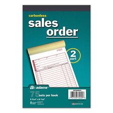 10 pk Sales Order Book Carbonless 2 part 75 each Adams DC5808UV invoice RED ink1