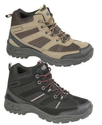 MENS BOYS HIKING BOOTS WALKING ANKLE TREKKING TRAIL TRAINERS SHOES 6 - 12