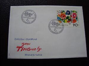 Switzerland-Envelope-1er-Day-25-11-1988-B13-Flag-Sticker-decal-Switzerland
