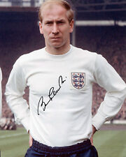 Sir Bobby Charlton - England 1966 World Cup Winner - Signed Autograph REPRINT