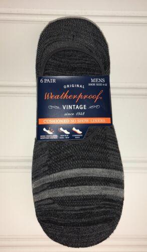 6 Pair Shoe Size 6-12 Weatherproof Men/'s Socks No Show Cushioned