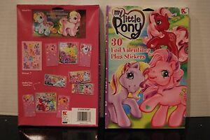 My Little Pony G3 Foil Valentines Day Cards Plus Stickers 2004