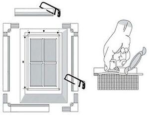 fliegengitter mit alu rahmen insektenschutzfenster 5 gr e zu w hlen wei braun ebay. Black Bedroom Furniture Sets. Home Design Ideas