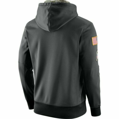 New England Patriots Salute to Service Sideline Therma Pullover Hoodie