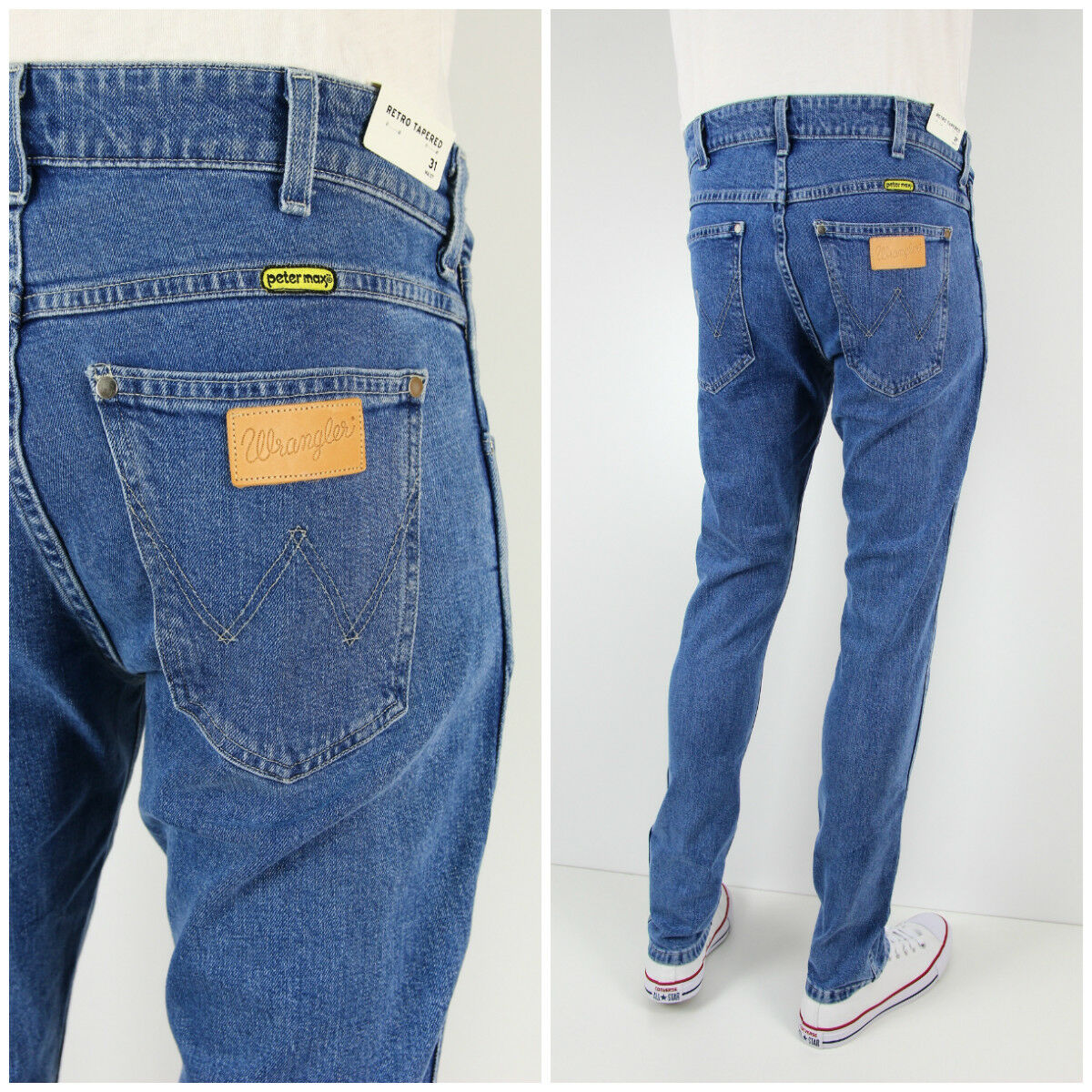NEW WRANGLER by PETER MAX TAPERED SLIM JEANS  RETRO FIT LARSTON   BRYSON L32 L34