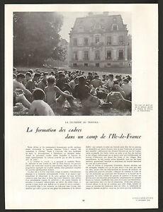 Article Presse Chantier De Jeunesse Chateau De Sillery Formation Des