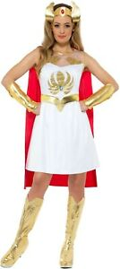 Women-039-s-He-Man-1980-039-s-She-Ra-Glitter-Fancy-Dress-Costume-Princess-Hen-Theme-Fun
