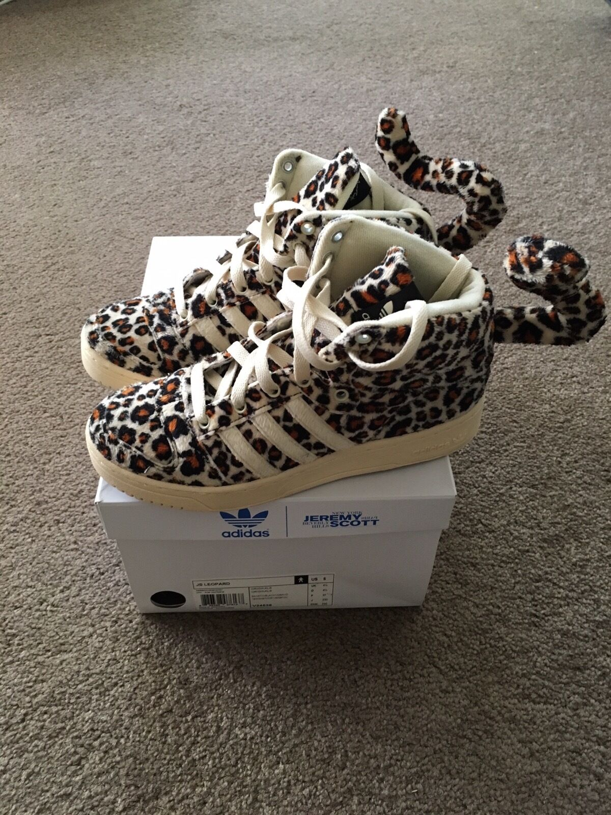 Jeremy Scott Adidas Leopard Tail Sneakers US 5 / 35 Unisex
